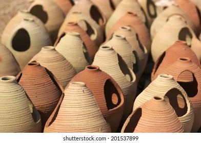 Clay jars of Tunisia, Africa