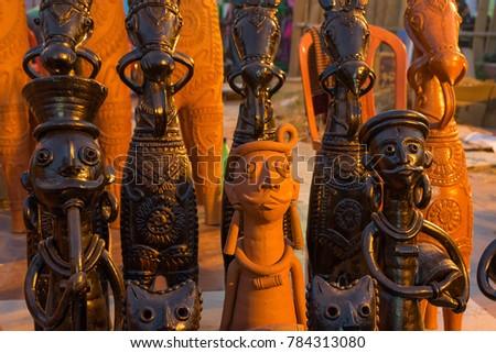 Clay Made Dolls Terracotta Handicrafts Tribal Stock Photo Edit Now