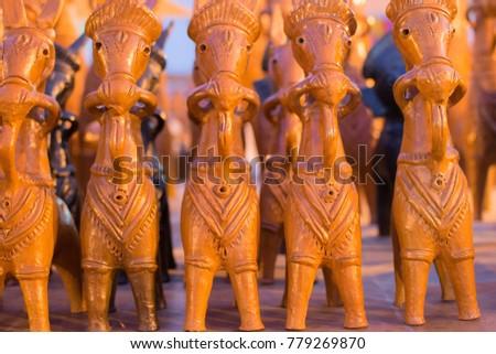 Clay Made Horses Terracotta Handicrafts Bankura Stock Photo Edit
