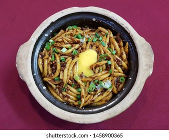 Clay Pot Rat Tailed Lou Shue Fun Rice Noodles with egg