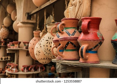 Clay pots in the Gift Shop, Masqat, Oman