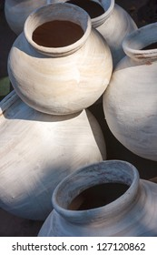 Clay pots for sale in Jodhpur, India, Asia