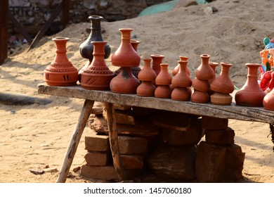clay pottery artefacts from rajasthan