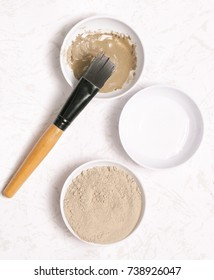 Clay powder and water - facial mask ingredients