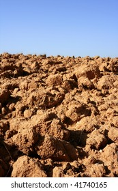 Clay red agriculture textured soil of farmanland`