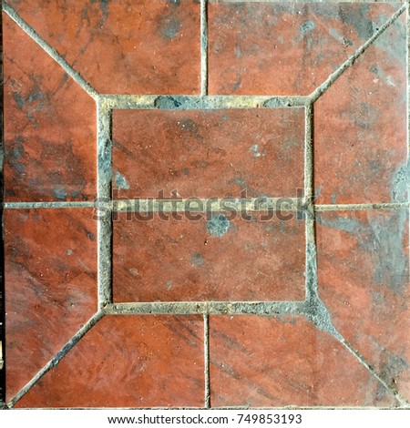 Clay Tile Floor Texture Background Stock Photo Edit Now 749853193