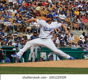Clayton Kershaw pitcher for the Los Angeles Dodgers at Camelback Ranch Glendale in Phoenix, Arizona USA March 18,2018.