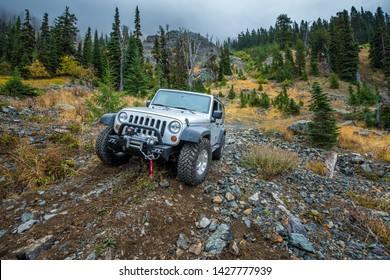 Cle Elum, Washinton, USA - 09/09/2015: Offroad Adventure in Washington State's Wilderness