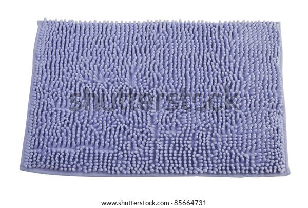 Clean bathroom doormat isolated on white