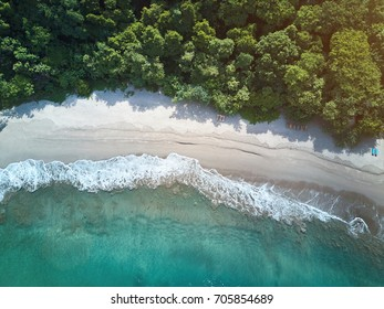 Clean beach in NIcaragua aquawellness bay aerial above view