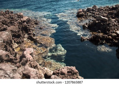 clean blue water of Dahab, Egypt