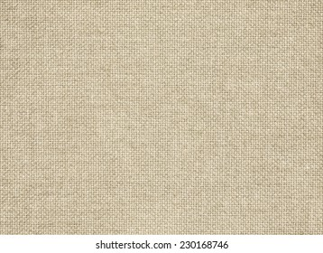 Clean brown burlap texture. Woven horizontal fabric