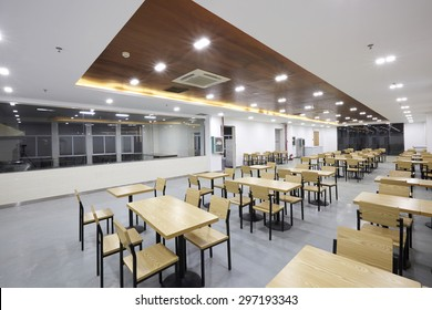Clean canteen restaurant interior