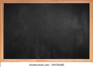 Clean chalk board  in frame for educational or business background