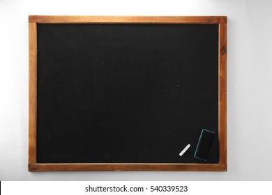 Clean chalkboard on white background