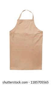 Clean chef's apron on white background. Part of uniform