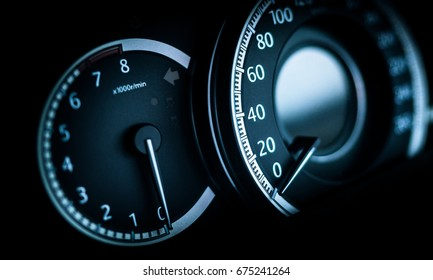 Clean Console Modern Car Speed Meter Stock Photo Edit Now