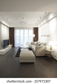 Clean and elegant home interior.Parlor