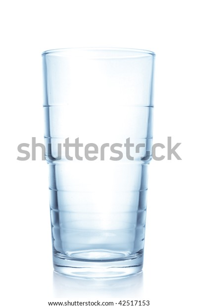 Clean empty glass over white background
