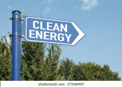 Clean Energy Road Sign