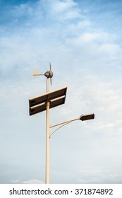 Clean energy from solar and small wind turbines.