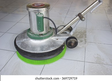 To clean the floor with polish.