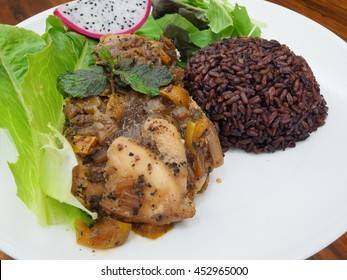 Clean Food / Black Pepper Chicken with rice berry