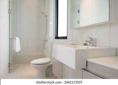 Clean and fresh bathroom