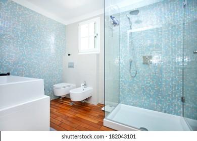 clean, fresh bathroom full of light