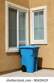 Clean garbage can in urban house