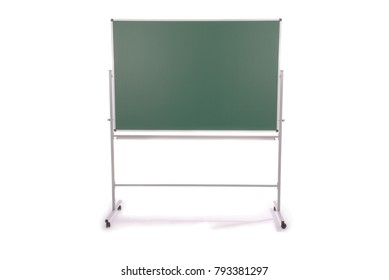 Clean green board isolated on white background.