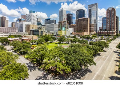 """""""Clean and Green"""" Downtown Houston TX"""