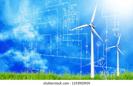 clean green energy wind concept