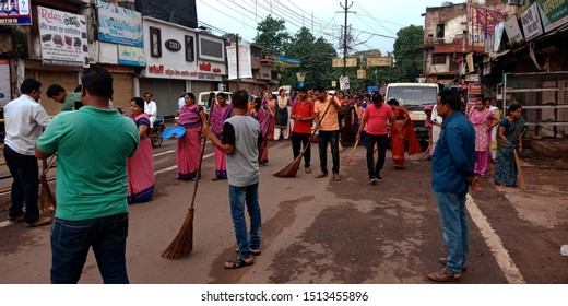 clean india program road show at district Katni Madhya Pradesh in India shot captured on sep 2019