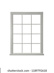 Clean modern window on white background. Architectural element