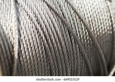 clean new steel cable steel wire or steel rope