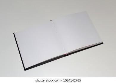Clean open sketchbook photo