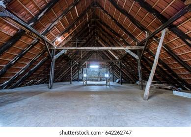 clean proper attic