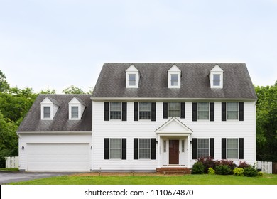 Clean and quaint american colonial house, front street view