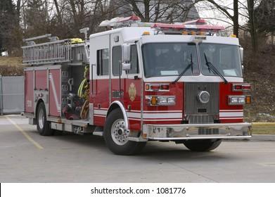 Clean Red Firetruck