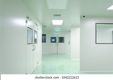Clean room manufacturing pharmaceutical plant, Green epoxy flooring, Sandwich Panel and door