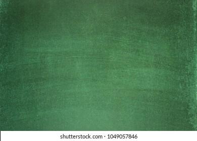 clean school board for chalk, green blackboard as background