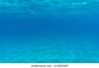 clean seabed with sand