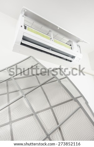 Clean Stainless Air Filter Wall Type Stock Photo Edit Now