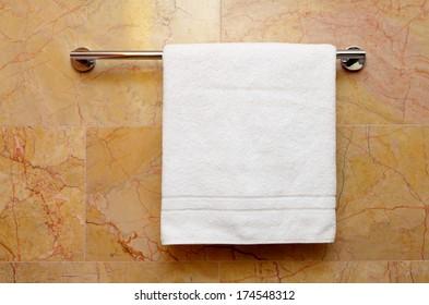 clean towel on the rack