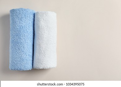 Clean towels on light background