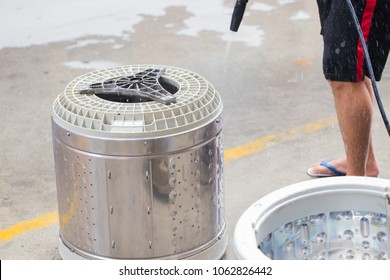 To clean the washing machine.Stainless steel washing tank