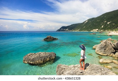 Clean water of Agios Nikitas Beach, Lefkada, Ionian Islands, Greece