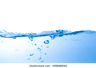 Clean water with water droplets and waves