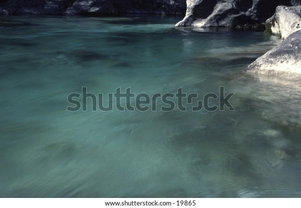 Clean Water of Soca River Slovenia